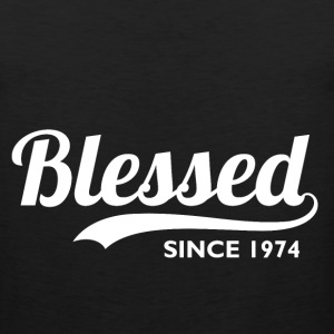 Blessed since 1974 - 42nd Birthday Thanksgiving  - Men's Premium Tank