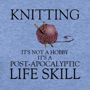 knitting is not a hobby shirt - Women's Wideneck Sweatshirt