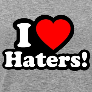 I LOVE HATERS Long Sleeve Shirts - Men's Premium T-Shirt