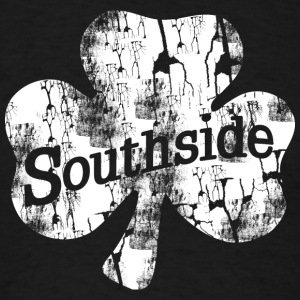 Southside Chicago Irish Distressed Shamrock Hoodies - Men's T-Shirt