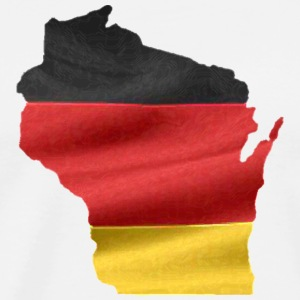 Germany German Wisconsin Flag Long Sleeve Shirts - Men's Premium T-Shirt