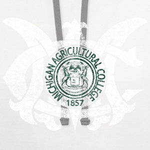 Old MAC Agriculture College Michigan Long Sleeve Shirts - Contrast Hoodie