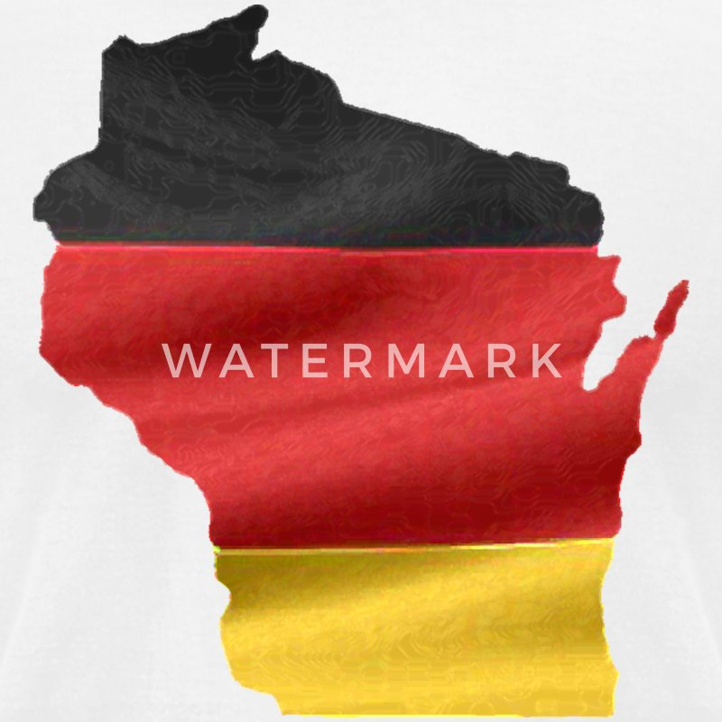 Germany German Wisconsin Flag T-Shirts - Men's T-Shirt by American Apparel