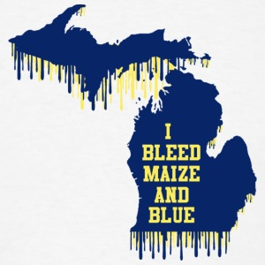 Michigan Bleed Maize and Blue Long Sleeve Shirts - Men's T-Shirt