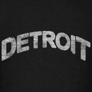 Distressed Detroit Arch Long Sleeve Shirts - Men's T-Shirt