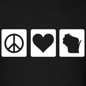 Peace Love Wisconsin Love Hoodies - Men's T-Shirt
