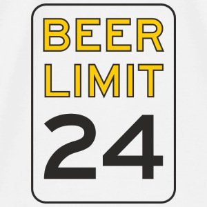 Beer Limit Mouse pad Vertical - Men's Premium T-Shirt