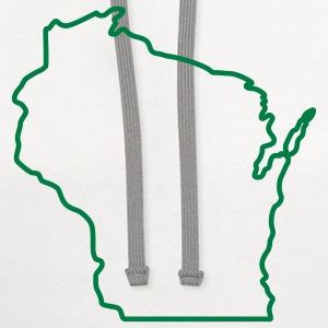 Wisconsin State Outline Design T-Shirts - Contrast Hoodie