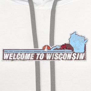 Classic Welcome to Wisconsin Kids' Shirts - Contrast Hoodie