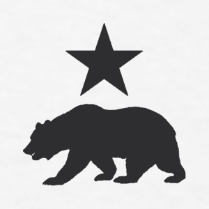 California Republic Grizzly Bear Coffee Mug - Men's T-Shirt
