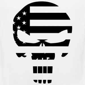 The Punisher Skull American Flag - Men's Premium Tank