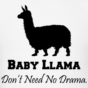 Baby Llama Don't Need No Drama Hoodies - Men's T-Shirt