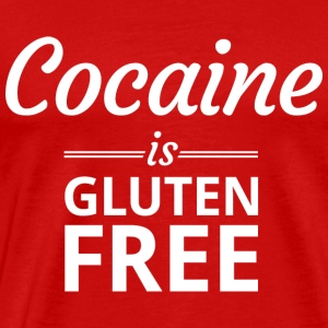 Cocaine is Gluten Free Tank Tops - Men's Premium T-Shirt
