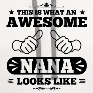 Awesome Nana Looks Like Women's T-Shirts - Contrast Hoodie