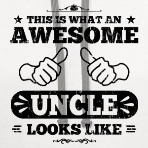 Awesome Uncle Looks Like T-Shirts - Contrast Hoodie