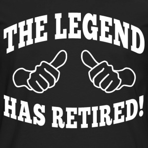 the legend has retired T-Shirts - Men's Premium Long Sleeve T-Shirt