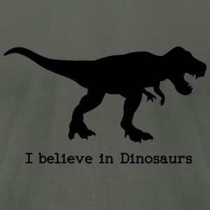 I believe in Dinosaurs Hoodies - Men's T-Shirt by American Apparel