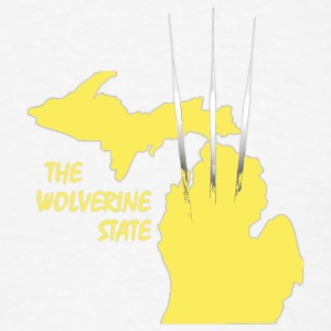 Maize Wolverine State Michigan Hoodies - Men's T-Shirt