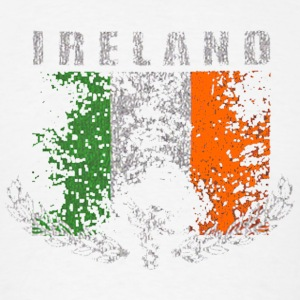 Vintage Irish Ireland Distressed Flag Long Sleeve Shirts - Men's T-Shirt