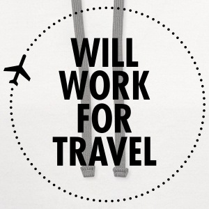 Will Work For Travel T-Shirts - Contrast Hoodie