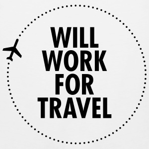 Will Work For Travel T-Shirts - Men's Premium Tank