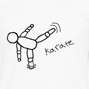 karate kick - Men's Premium Long Sleeve T-Shirt