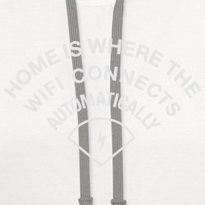 HOME IS WHERE WIFI IS Women's T-Shirts - Contrast Hoodie