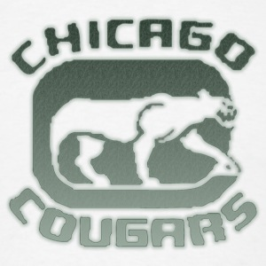 Vintage Chicago Cougars Hockey Hoodies - Men's T-Shirt