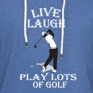Live Laugh Play Lots of Golf - Unisex Lightweight Terry Hoodie