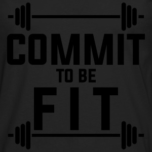 Commit to be fit T-Shirts - Men's Premium Long Sleeve T-Shirt