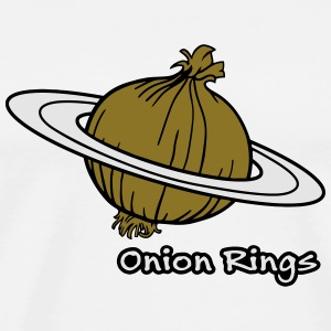 Onion Rings - The rings of onion planet Buttons - Men's Premium T-Shirt