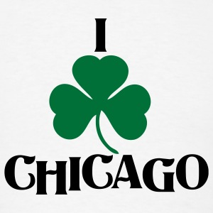 I Shamrock Irish Chicago Long Sleeve Shirts - Men's T-Shirt