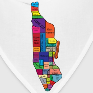 Manhattan New York Neighborhoods Baby & Toddler Shirts - Bandana