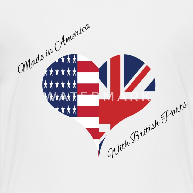 Made in America with British Parts Kids' Shirts - Kids' Premium T-Shirt