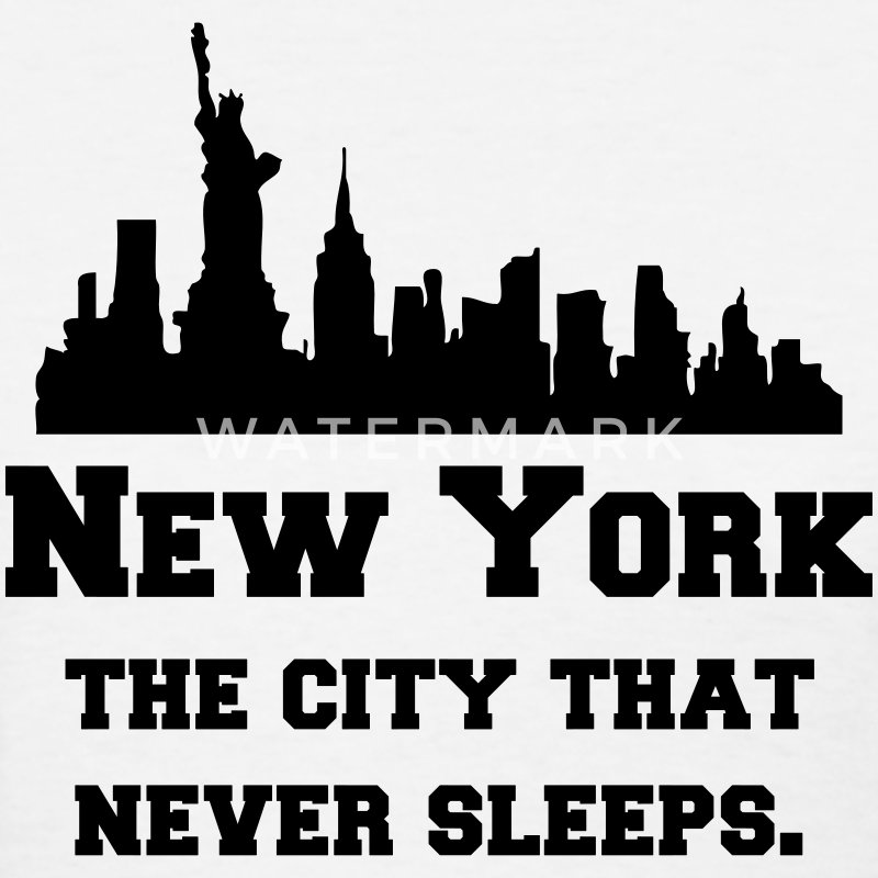New York (NYC) The City That Never Sleeps. Women's T-Shirts - Women's T-Shirt