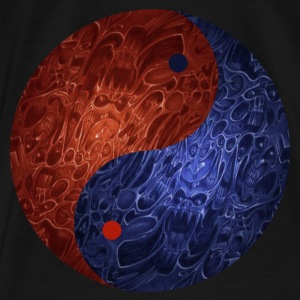 Blue Red Demon Yin Yang Hoodie - Men's Premium T-Shirt