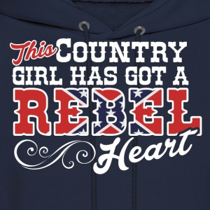 Country Girl with a Rebel Heart - Men's Hoodie