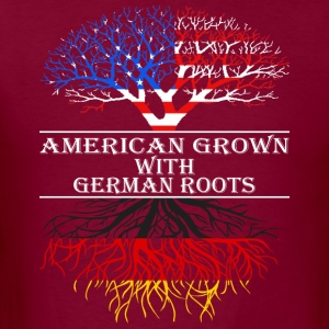 American Grown With German Roots - Men's T-Shirt