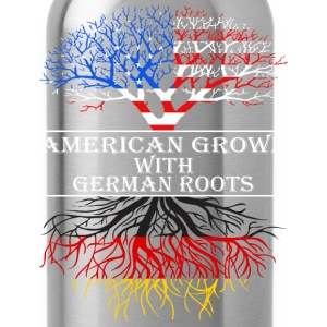 American Grown With German Roots - Water Bottle