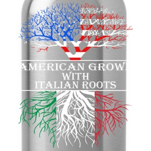 American Grown With Italian Roots - Water Bottle