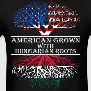 American Grown With Hungarian Roots - Men's T-Shirt