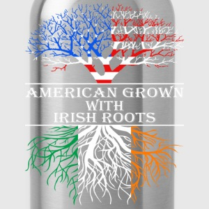 American Grown With Irish Roots - Water Bottle