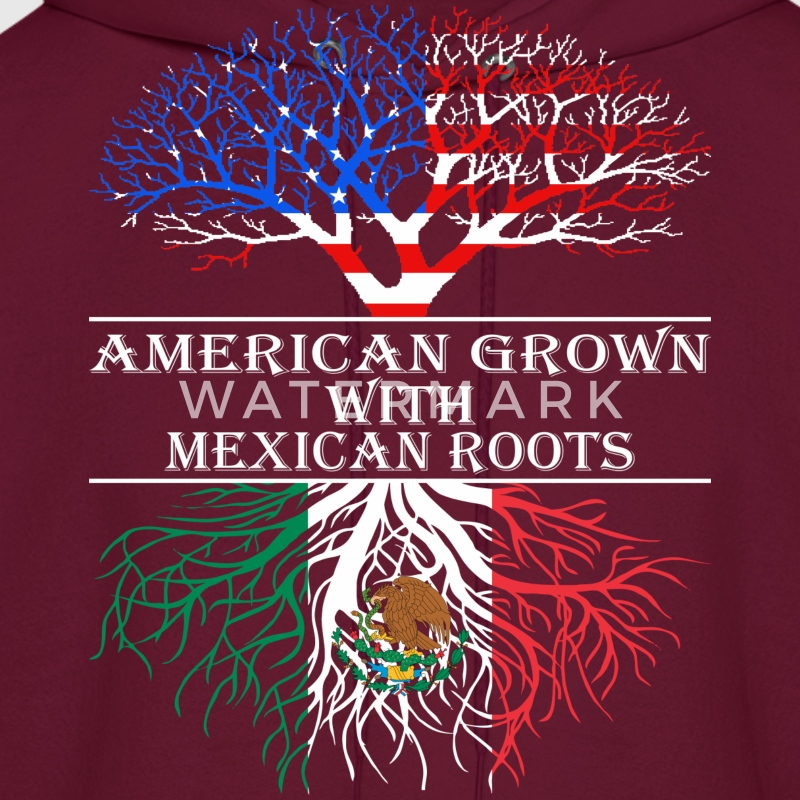 American Grown With Mexican Roots - Men's Hoodie