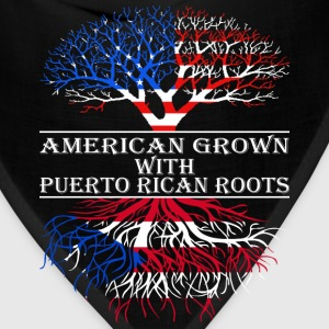 American Grown With Puerto Rican Roots - Bandana