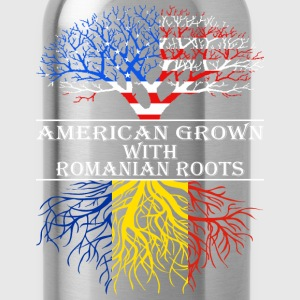 American Grown With Romanian Roots - Water Bottle