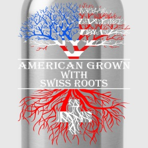 American Grown With Swiss Roots - Water Bottle