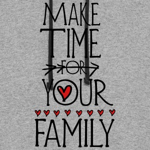 Make time for your family Men's Baseball T-Shirt - Colorblock Hoodie