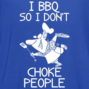 I BBQ So I Do Not Choke People Barbecue - Women's Flowy Tank Top by Bella