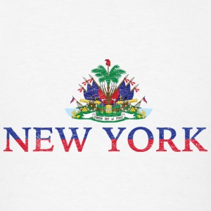 New York Haiti Flag Haitian Pride Hoodies - Men's T-Shirt