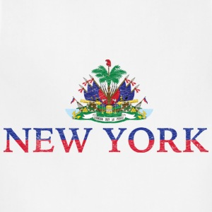New York Haiti Flag Haitian Pride Women's T-Shirts - Adjustable Apron